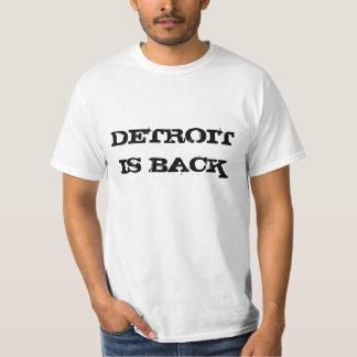 Detroit está para trás camiseta