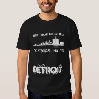 Detroit - mais fortemente do que nunca - skyline t-shirts