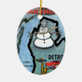 Detroit Michigan Ornamento Para Arvore De Natal