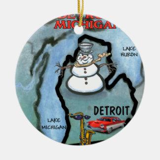 Detroit Michigan Ornamento