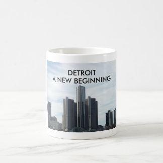 Detroit uma caneca de começo nova do branco 11oz