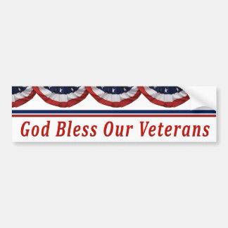Deus abençoe nossos veteranos militares adesivo para carro