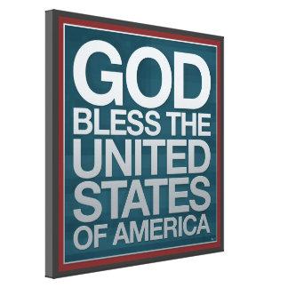 Deus abençoe os EUA Impressão De Canvas Envolvidas