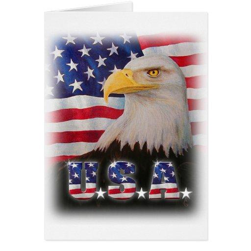 Deus abençoe os EUA! Cartao