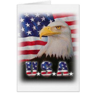 Deus abençoe os EUA! Cartão Comemorativo