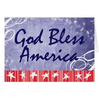 Deus abençoe patrióticos América dos cartões de