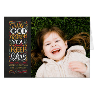 Deus abençoe você cartão do feriado religioso