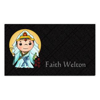 Deus chinês bonito da piedade cartão de visita