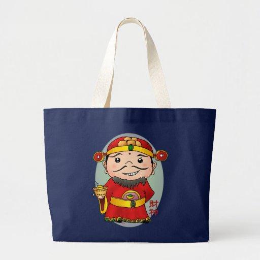 Deus chinês bonito da riqueza bolsa