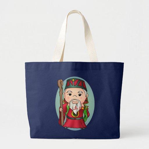 Deus chinês bonito da terra bolsas para compras