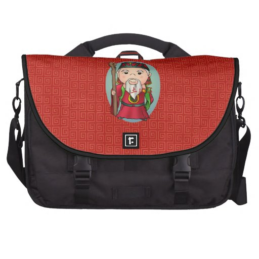 Deus chinês bonito da terra mochila para laptop