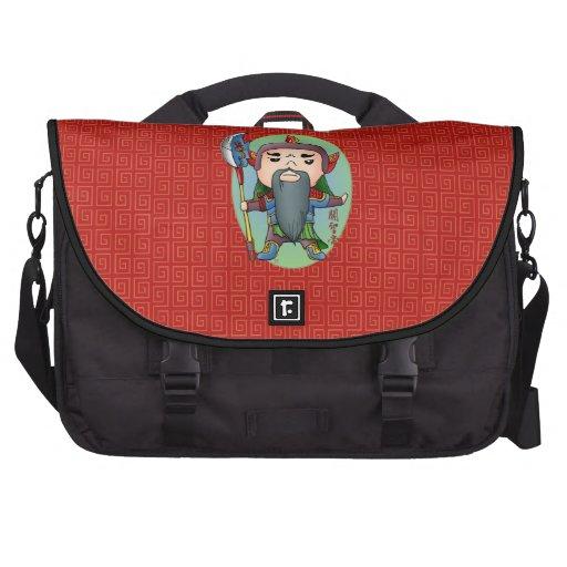 Deus chinês bonito do amor bolsas para notebook