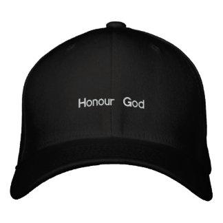 Deus da honra boné bordado