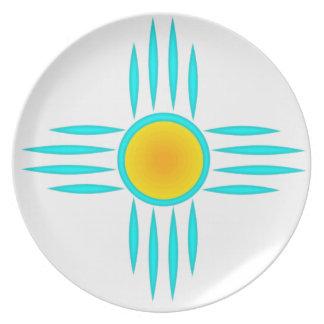 Deus de Sun de turquesa Louça De Jantar