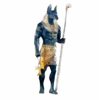 Deus do egípcio de Anubis Foto Escultura