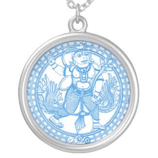 Deus do macaco de Hanuman Colar Banhado A Prata