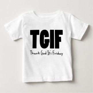 Deus do obrigado de TGIF sua sexta-feira Camiseta Para Bebê