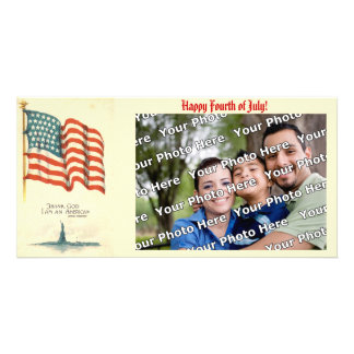 Deus do obrigado eu sou um cartão com fotos americ