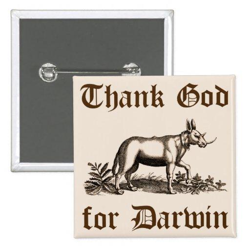 Deus do obrigado para o botão de Darwin Boton