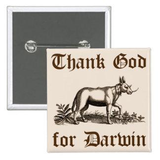 Deus do obrigado para o botão de Darwin Bóton Quadrado 5.08cm