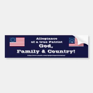 Deus, família & país! adesivo para carro