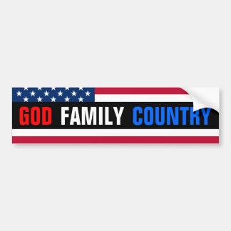 Deus, família, país adesivo para carro