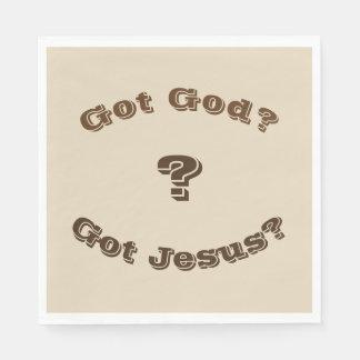 Deus obtido? Jesus obtido? Guardanapo