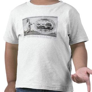 Deus que cria o mundo pelo compasso t-shirt