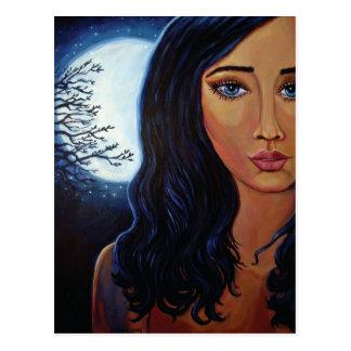 Deusa da lua & das estrelas - cartão
