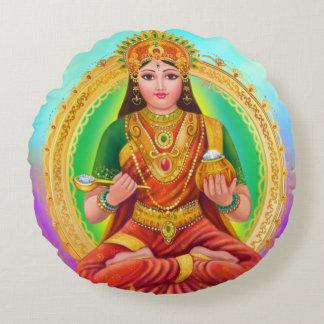 Deusa de Annapoorna Almofada Redonda