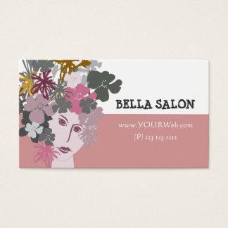 Deusa de florescência da beleza feminino cartão de visitas