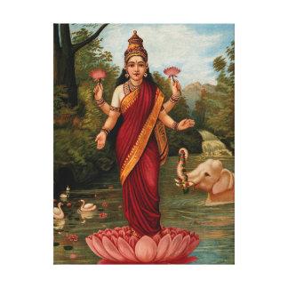 Deusa de Lakshmi da fortuna e da prosperidade da Impressão Em Canvas