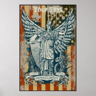 Deusa de Libertas do poster da liberdade Pôster
