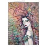 Deusa do cartão das flores por Molly Harrison