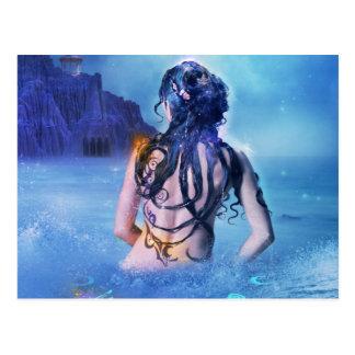 Deusa do mar e do cartão da noite
