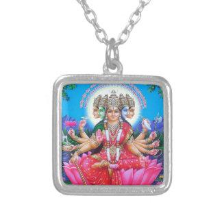 Deusa Gayatri Devi Colar Banhado A Prata