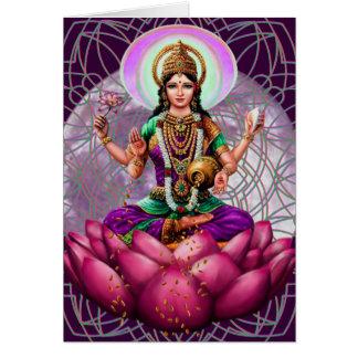 Deusa Lakshmi - cartão da fortuna