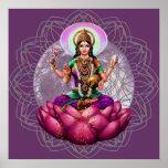 Deusa Lakshmi - mandala da bênção da riqueza Poster