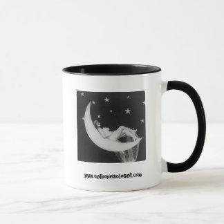 Deusa na caneca de café da lua