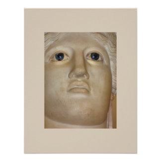 Deusa romana da estátua antiga das belas artes convites