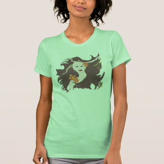Deusa verde - hemerocallis t-shirt