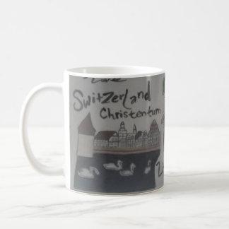 Deutsch/christlich caneca-liechtenstein/suiça caneca de café