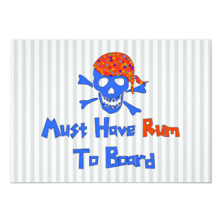 Deve comer o rum convite personalizado