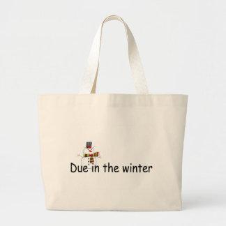 Devido no inverno sacola tote jumbo