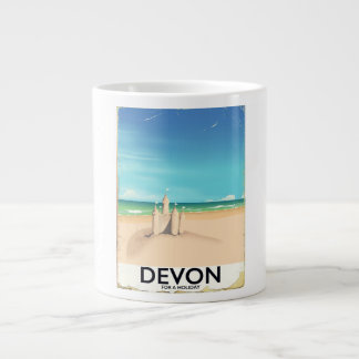 Devon, Inglaterra por um feriado Caneca De Café Grande
