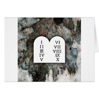 Dez mandamentos cartão comemorativo