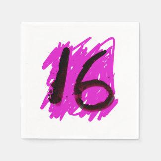 Dezesseis guardanapo Funky do aniversário