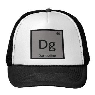 Dg - Símbolo da mesa periódica da química de Boné