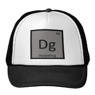 Dg - Símbolo da mesa periódica da química de Darje Boné