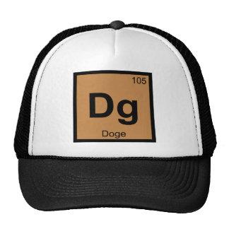 Dg - Símbolo da mesa periódica da química de Meme Boné